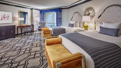 Double Queen Burgundy Petite Room